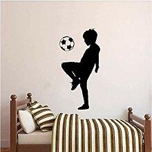 Kleiner Junge Fußball Wandaufkleber Tapete Jungen
