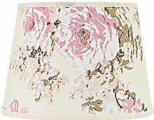 Kleiner Lampenschirm Stoff Rosa Weiß Blumen Motiv