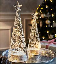 Kleiner Lichterbaum leuchtet den ganzen Advent