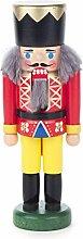 kleiner Nussknacker Figur König rot-gelb von DREGENO SEIFFEN 14 cm – Original erzgebirgische Handarbeit, stimmungsvolle Weihnachts-Dekoration