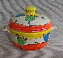 kleiner runder Brottopf Keramik in payaso