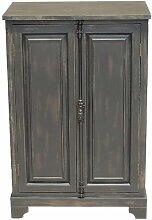 Kleiner schwarzer Pretoria-Schrank aus Holz
