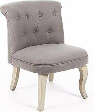 Kleiner Sessel - Leinen - Taupe