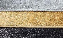 Kleiner Shaggy-Teppich mit Lurex-Fasern: Silber