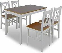 Kleiner Tisch und Stuhl Set Holz Modern Küche