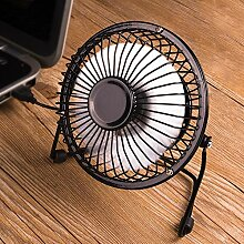 Kleiner tragbarer Ventilator / USB-Ventilator / ruhiger Schlafsaal-Student Mini-Fan ( Farbe : Schwarz )