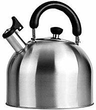 Kleiner Wasserkocher Edelstahl-Pfeifkessel Gasherd