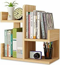 Kleines Bücherregal aus Holz, zusammengebaut,