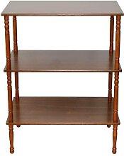 Kleines Bücherregal in Walnussfarben klassischen