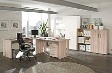 Kleines Bürozimmer Set Omega - 6-teilig - Sonoma-Eiche-Dekor