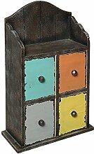 Kleines Cargo Schubladen Regal, Wand Regal, Hänge Regal Shabby Bun