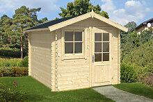 Kleines Gartenhaus aus Holz Anke L 6,2m² / 28mm / 2×3
