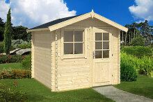 Kleines Gartenhaus aus Holz Anke M 5m² / 28mm / 2,5×2,5