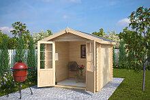 Kleines Gartenhaus mit Doppeltür Anita M 5m² / 28mm / 2×2