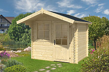 Kleines Gartenhaus mit Vordach Monica S 4m² / 28mm / 2×2