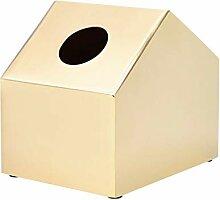 Kleines Haus förmigen goldene Tissue Box Messing