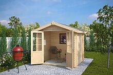 Kleines Holz-Gartenhaus Anita S 4m² / 28mm / 2×2