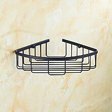 Kleines Lagerregal Kupfer Antike Dreieck Korb Racks Badezimmer Europäischen Stil Badezimmer Badezimmer Doppel Eckstativ Retro Drei-tier regal ( größe : E )