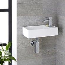 Kleines Wand-Handwaschbecken 41x22cm Keramik mit