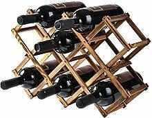 Kleines Weinregal Holzflaschenregale für