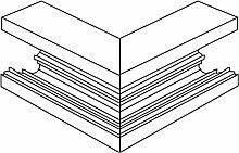 Kleinhuis–außenliegende Ecke-System Kanalisierung lgr BA1058.8BS Externe Ecke der Wand des Ductus