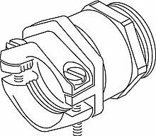 Kleinhuis–Kabelverschraubung Messing, vernickelt mit Zwinge Außen Gewinde M-40