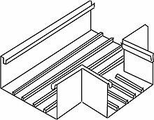 Kleinhuis–Tee lgr BT1708.8Kabelführungs-System BS EN T Wand Kabelkanal