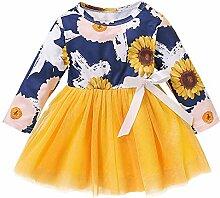 Kleinkind Sonnenblumendruck Kleid Baby Langarm