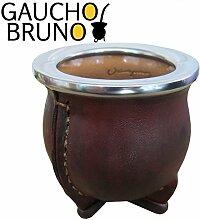 Kleinleder Bound Keramik Mate- Cup Cuia Stil