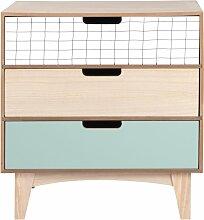 Kleinmöbel mit 3 Schubladen, bunt