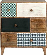 Kleinmöbel mit 6 Schubladen, Mangoholz mit