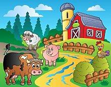 Kleistertapete Foto-Tapete auf dem Bauernhof