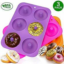 KLEMOO Donut-Backform, Silikon, Antihaft-Form,