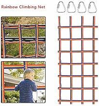 Kletternetz Für Kinder, Tragbares Regenbogen