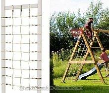 Kletternetz für Schaukel Winnetoo farbig, 200x100cm - Kinderspielgeräte für Garten, Spielgeräte für Kinder, Spielturm, Spieltürme