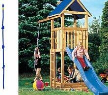 Kletterseil mit 3 Knoten für Spielturm, 200cm - Kinderspielgeräte für Garten, Spielgeräte für Kinder, Spielturm, Spieltürme