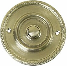 Klingel Klingeltaster antik Nickel matt gebürstet #K22-NM