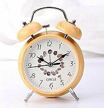 Klingeln Wecker, Kreative Farbe Holzblock Uhr