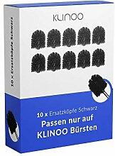KLINOO 10 x Premium Schwarze Ersatz-Bürstenköpfe