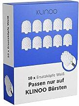KLINOO 10 x Premium Weiße Ersatz-Bürstenköpfe