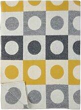 KLIPPAN: creme gelb graue Wolldecke