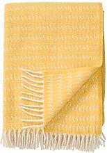 Klippan Creme-gelbe Wolldecke 'Sumba' aus