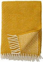 Klippan: Creme-gelbe Wolldecke 'Velvet'