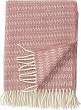 Klippan Creme-rosa Wolldecke 'Sumba' aus