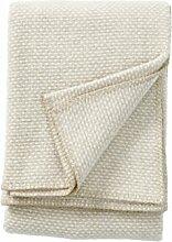 Klippan Domino Wolldecke 130x180 cm - beige