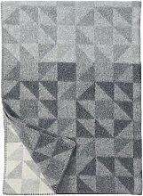 KLIPPAN: Graue Wolldecke 'Shape', 130x180cm, 100% Lambswool
