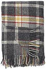 Klippan: graue Wolldecke 'Tweed'