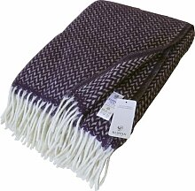 Klippan: Wolldecke mit violetten und cremefarbenen