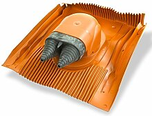 Klöber Venduct DUO Solardurchführungs-Set rot Universal Dachdurchführung Solarleitung KE8270-0100