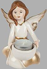 Klp Engel Teelichthalter Porzellan Schutzengel